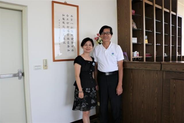 嘉年生化董事長林景寬夫婦。(莊宜真/攝影)