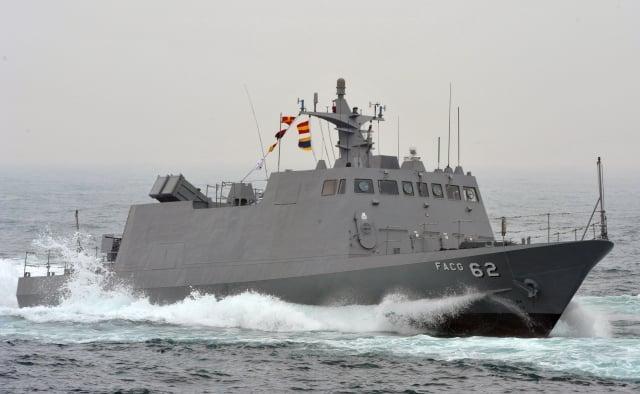 海軍表示,光六飛彈快艇(圖)與微型飛彈突擊艇在運用上有不同的地方。(SAM YEH / AFP)