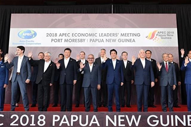 週日(11月18日),在巴布亞新幾內亞(PNG)召開的亞太經合組織(APEC)峰會在沒有產生正式領袖宣言的情況下閉幕。(SAEED KHAN/AFP/Getty Images)