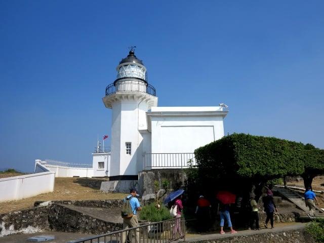 旗津燈塔是日治時期留存至今的百年建築。(攝影/鄧玫玲)