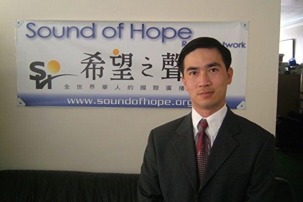 近日,一名在泰國的台商蔣永新,因代租希望之聲短波廣播發射台辦公室,遭到受中共壓力的當地警方拘捕。圖為希望之聲負責人曾勇。(希望之聲提供)