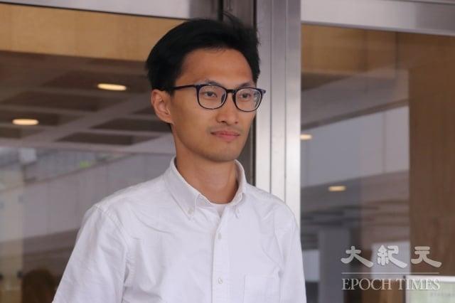 香港立法會議員朱凱迪參選鄉郊代表的提名被決定無效,他批評是香港政府政治審查。(記者蔡雯文/攝影)
