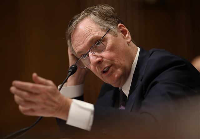 貿易談判代表羅伯特·萊特希澤。(Win McNamee/Getty Images)