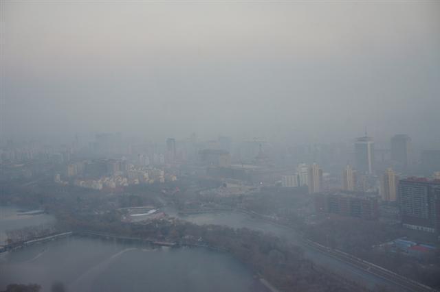 中國陰霾的危害。(大紀元資料室)