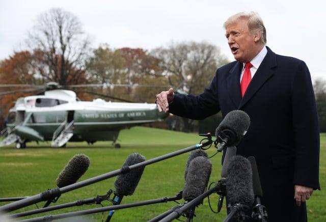 美國總統川普週二也在推特上說,期待與中方達成一項公平的協議,否則美方不會減輕對中國的關稅壓力。圖為資料照。(Win McNamee / Getty Images)
