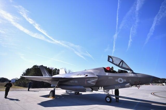 美國聯邦參議院19日一致通過「亞洲再保證倡議法案」(ARIA),法案呼籲美國總統應定期對台軍售。圖為我國一直想購得的F-35戰機。(Getty Images)