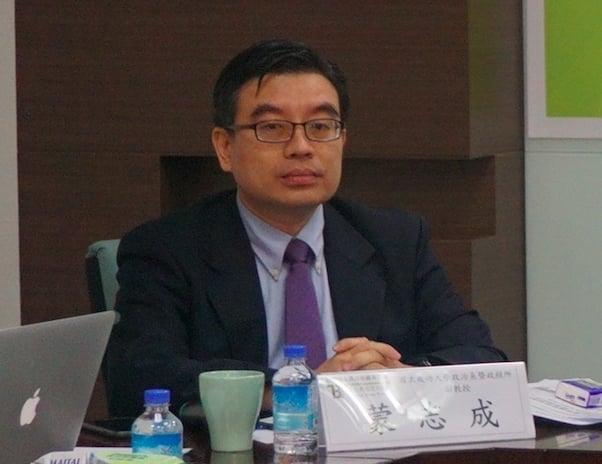 成大政治系副教授蒙志成受訪表示,中共已開始測試台灣對一國兩制的接受度。(記者李怡欣/攝影)