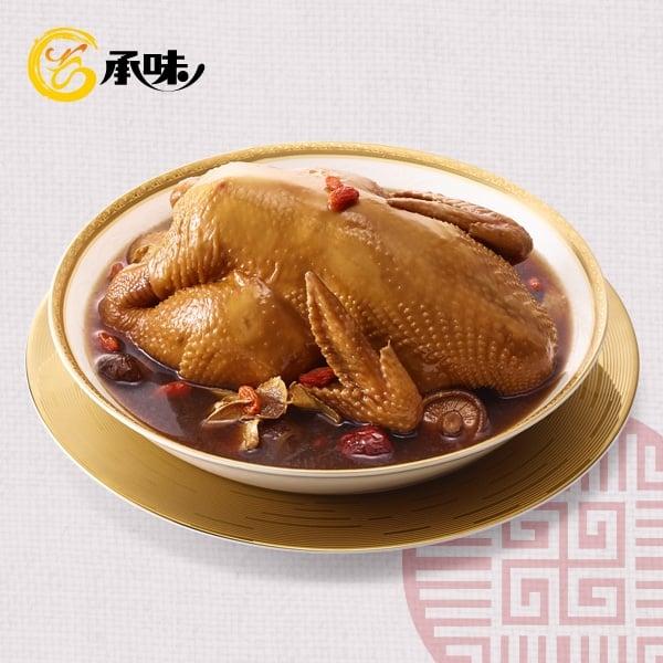 吳秉承-承味花雕藥膳雞。(全家提供)