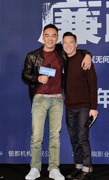 《廉政風雲》為劉青雲(左)與張家輝(右)繼電影《掃毒》後再度合作的新作。(華映提供)