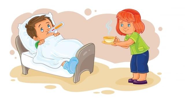 流感患者應適當休息,多飲溫水,以簡單清淡飲食為宜。(Fotolia)