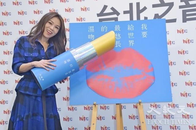 蔡健雅8日出席台北之音《hito大台柱》活動。(記者黃宗茂/攝影)