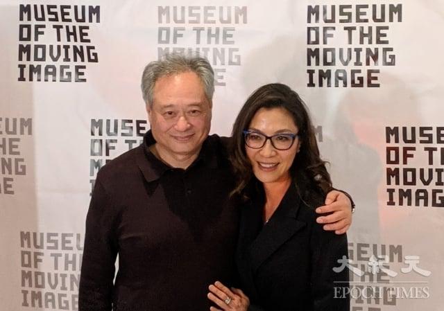 楊紫瓊(右)與李安(左)已2年多未見,雙方期待再次合作。(記者黃小堂/攝影)
