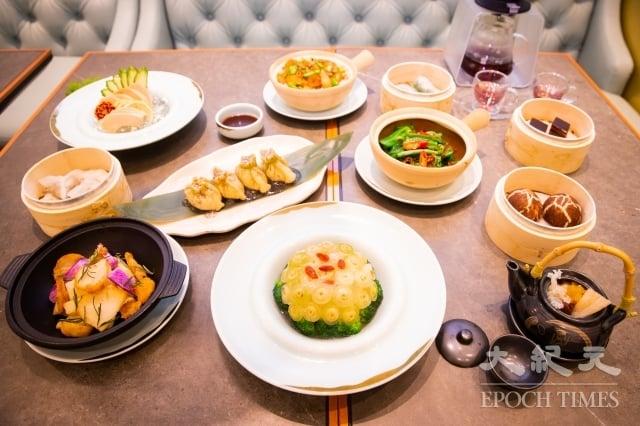 被港人封為「全港最棒素食餐廳」的「心齋」進駐微風南山,以新派烹調手法,集合川式、泰式、粵式,口感多元化、具層次感,擄獲饕客的味蕾。(記者陳柏州/攝影)