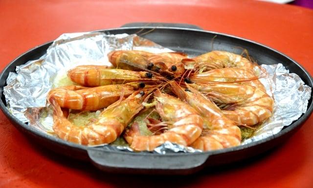 鹽焗蔥花紅袍蝦(攝影/鄧玫玲)