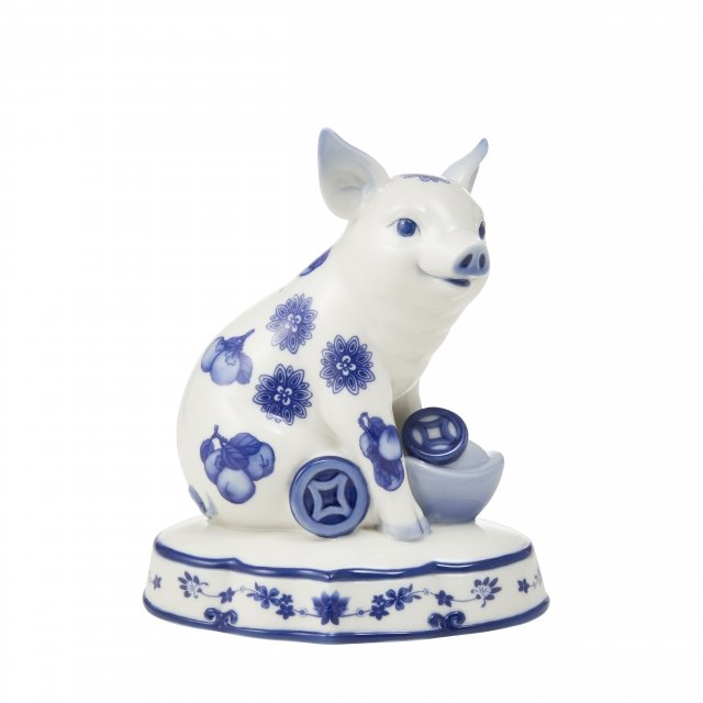 豬事亨通-青花豬擺飾(法藍瓷提供)
