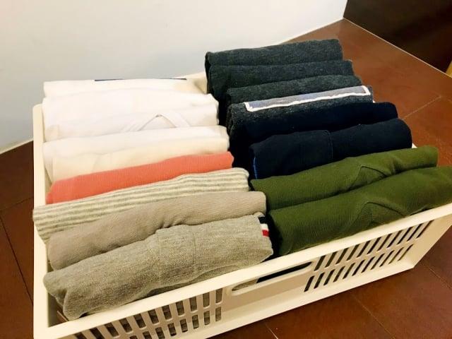 「直立式收納法」在衣物收納上也是不錯的選擇。(日日學文創提供)