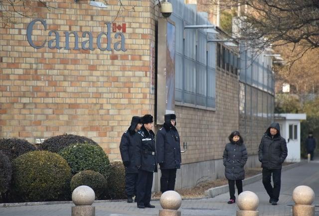 143名前駐中國大使及中國問題專家聯名致函中國國家主席習近平,呼籲釋兩名加國公民。圖為加拿大駐中國使館。(Getty Images)
