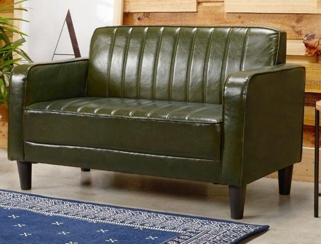 天秤座-美式復古風皮沙發。(業者提供)