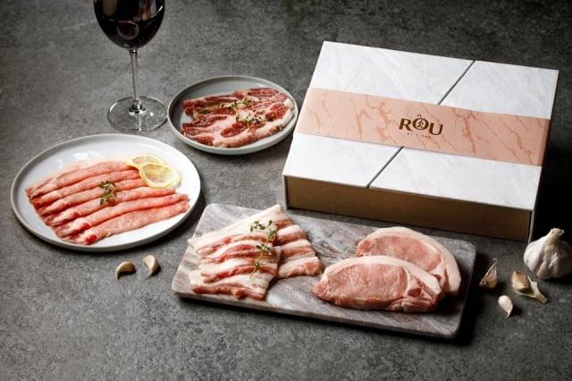 台畜精品肉舖ROU by T-HAM推出豬年限定禮盒。(業者提供提供)