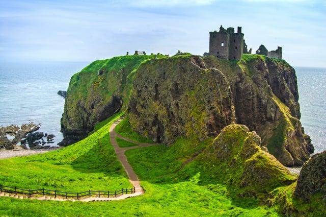位於蘇格蘭的鄧諾特城堡。(Fotolia )