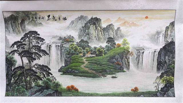 10.風水畫。(攝影/三川)