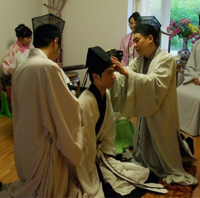 明制漢族冠禮。(維基百科)
