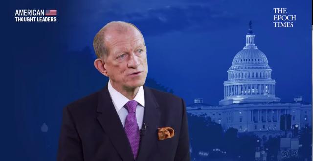 川普競選團隊前顧問、現任「美國優先政策」組織資深顧問艾里斯(Curtis Ellis)。(擷自英文《大紀元》專訪影片)