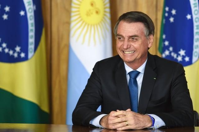 涉外人士表示,拉美地區目前反對左派勢力趨勢越來越明顯。圖為有巴西川普之稱的巴西總統波索納洛。(EVARISTO SA/AFP/Getty Images)