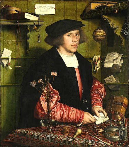 商人喬治‧吉斯(Georg Giese)的肖像,小漢斯‧霍爾班作。(維基百科)