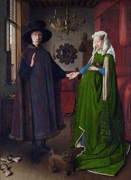 范‧艾克《阿諾菲尼的婚禮》1434。(維基百科)