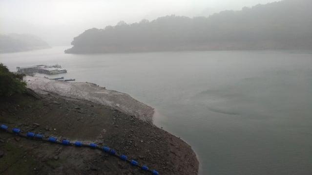 石門水庫降雨後水位逐漸回升,稍稍解「渴」。