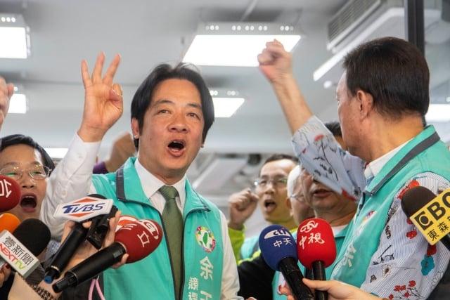 前行政院長賴清德昨(13)日表示,台灣不接受一國兩制,絕不能簽和平協議。(中央社)