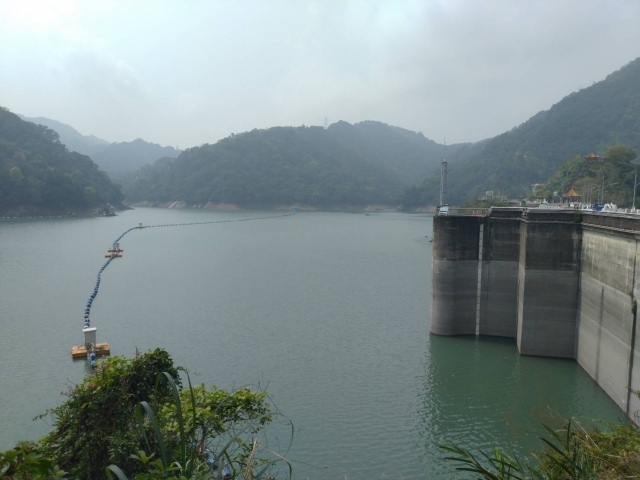 石門水庫蓄水率六十.八%,讓水情暫獲穩定。(北水局提供)