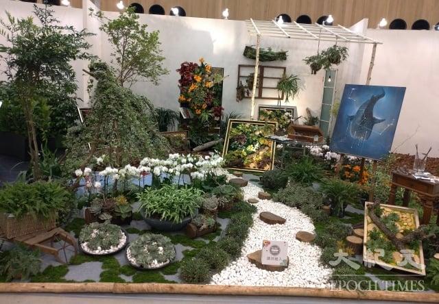 銅獎作品「18號畫室」將大自然植物組合成一幅幅美麗的畫,創意的巧思令人驚豔。