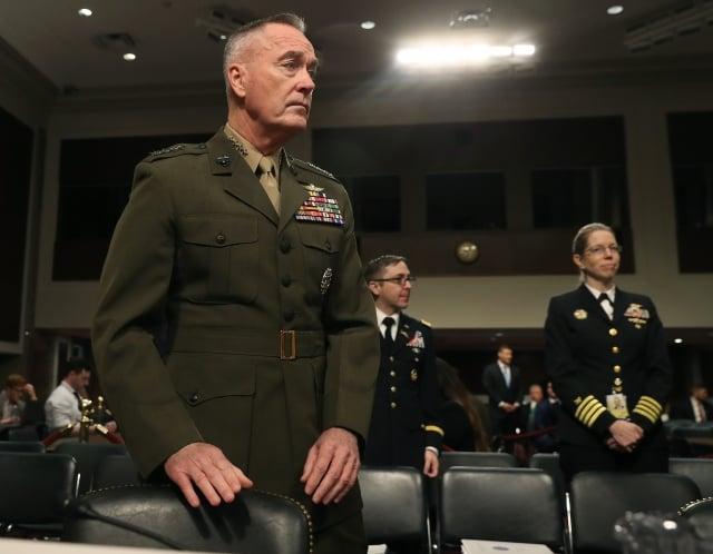 美國參謀首長聯席會議主席鄧福德(圖)提出警告,Google在中國所做工作讓中共人民解放軍受益。(Mark Wilson/Getty Images)