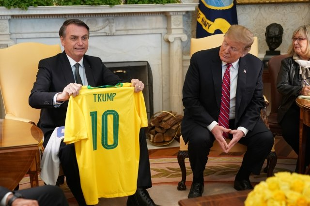 巴西川普見本尊 川普擬讓巴西享盟友待遇