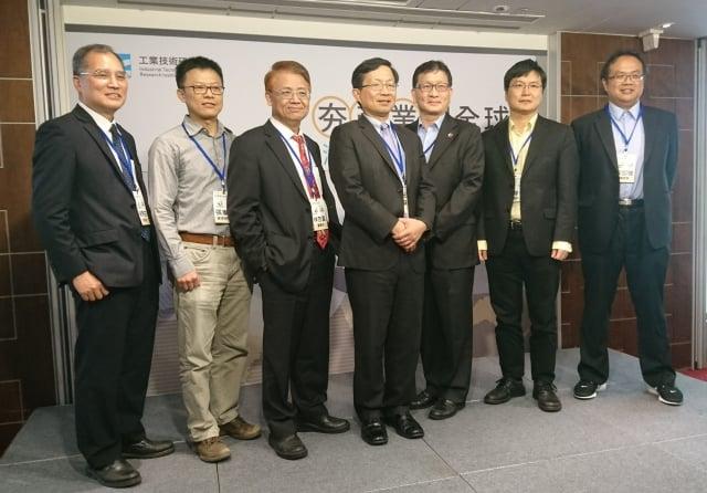 工研院21日發表關鍵產業趨勢,並指出台灣半導體產業產值今年有機會超越韓國。(中央社)