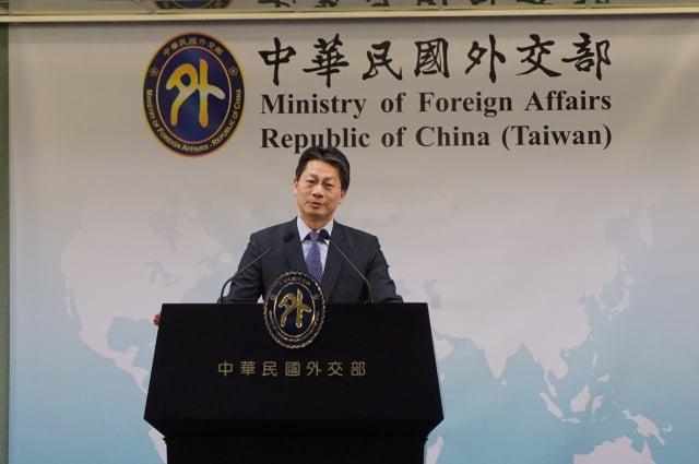 美國各界關注中共對台「一國兩制」,對此外交部發言人李憲章28日表示,一國兩制在台灣沒有市場。(記者李怡欣/攝影)