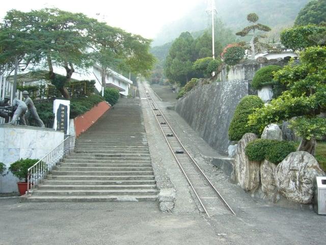 出磺坑文化景觀地纜車道設施。