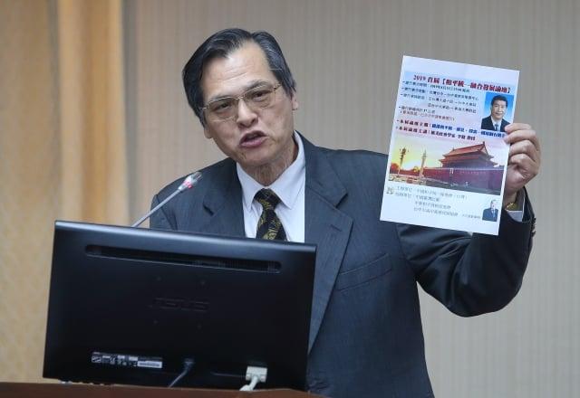陸委會主委陳明通表示,中共提出一國兩制台灣方案後,武統宣導團就是要消滅中華民國,不歡迎他們入境,已經發證的也會取消。(中央社)