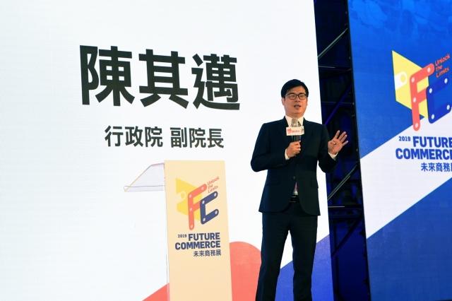 行政院副院長陳其邁19日表示,政府加速推動5G建置,預計今年年底或明年1月提前達標。(行政院提供)
