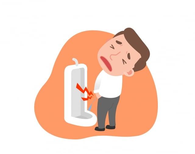 剛開始只自覺排尿有一點不順,但在一次加強訓練後,竟然每次上廁所都要等10分鐘以上才能尿出來,於是趕緊就醫。(Fotolia)