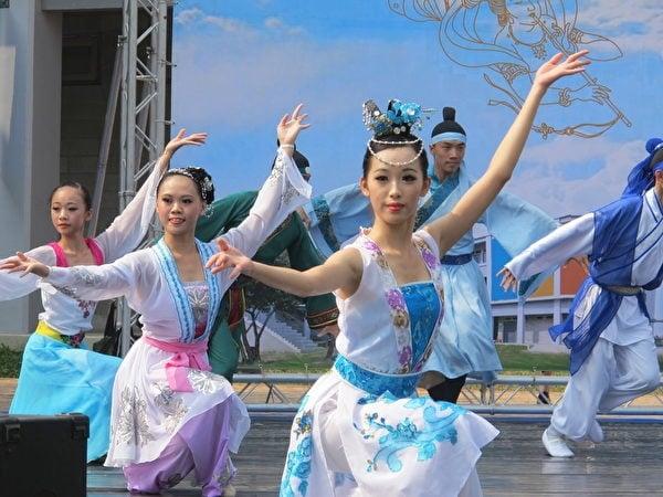 蔦松國中舞蹈班表演。(攝影/廖素貞)