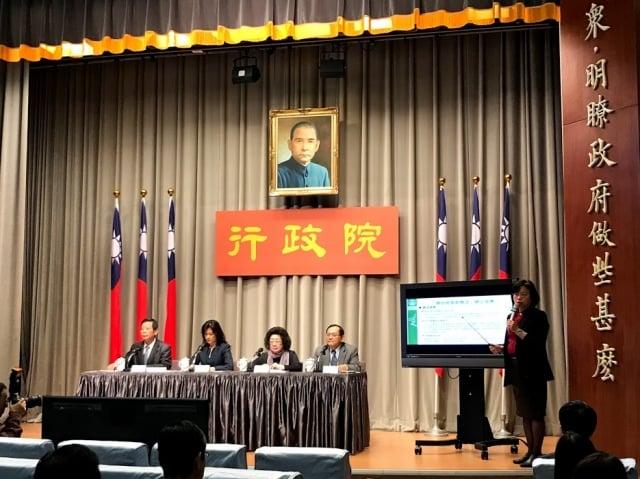 9日行政院會後記者會宣布,原住民族教育法修法草案通過。(記者李怡欣/攝影)