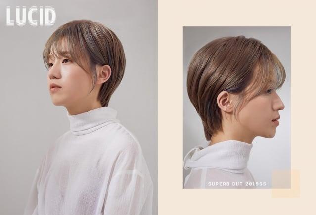 日韓版精靈短髮。