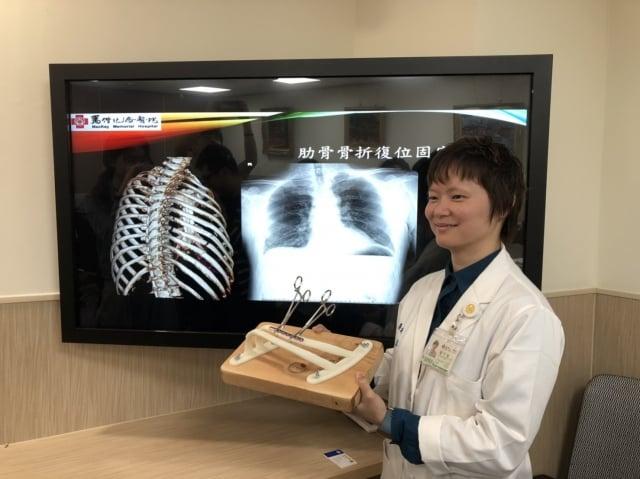 馬偕紀念醫院外傷科‧胸腔外科主治醫師楊于慧。(施芝吟/攝影)