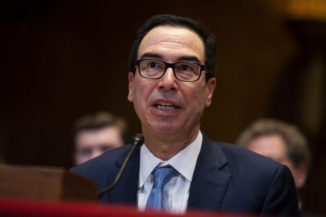 美國財政部長史蒂芬・梅努欽(Steven Mnuchin)5月15日表示,美中新一輪談判很快會在北京舉行。 (Anna Moneymaker/Getty Images)