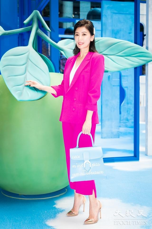 賈靜雯16日出席時尚活動。(記者陳柏州/攝影)