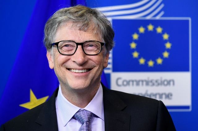 微軟創辦人比爾・蓋茨(Bill Gates)。(JOHN THYS/AFP/Getty Images)