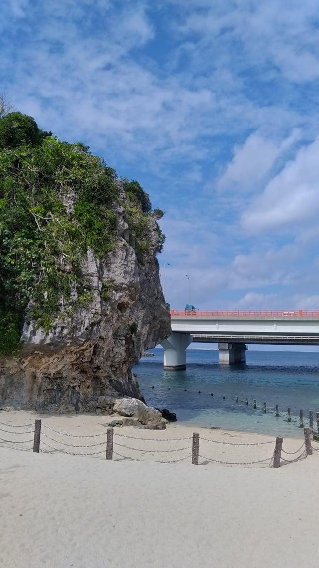 沖繩波上宮海灘。(楊子樊提供)